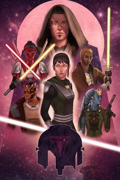 Commissioned by the most patient commissioner in the universe, ! He asked me to transform a Star Wars: The Force Awakens poster into one with his own characters from the KOTOR and SWTOR games. From...