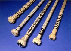 Old Ebony & Ivory Canes/Walking Sticks