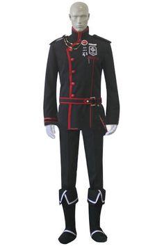 D.Gray-man 3 HALLOW Crown Clown Lavi Cosplay costume Uniform Overcoat scarf