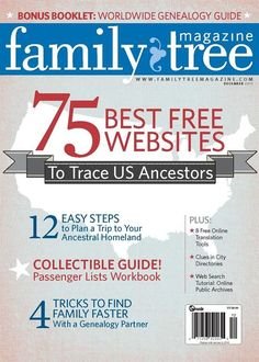 """The """"75 Best State Genealogy Websites in 2013"""" from Family Tree Magazine."""