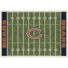 Chicago Bears Football Field Rug