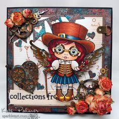 La-La Land Crafts Blog Love this steampunk girl! . . . but link does not go directly to this card.