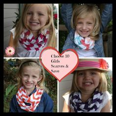 10 Girls Infinity Scarves Choose and Save by tammylynnscreations