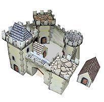 Bouwplaat kasteel, free download / Découpage Château-Fort pour enfants sur HugoLescargot.com