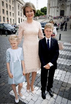 Belgium Royal family celebrates National Day - The Queen in Natan