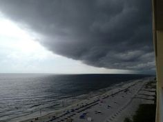 Gulf shores Alabama...love to sit on the balcony and watch a storm roll in over the ocean.