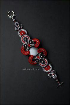 . Soutache Bracelet, Soutache Jewelry, Bead Jewellery, Boho Jewelry, Handmade Jewelry, Jewelry Design, Tassel Earrings, Beaded Necklace, Soutache Tutorial