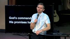 God's commands, not only His promises have power