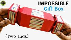 Impossible Gift Box with Two Lids - DIY tutorial - YouTube