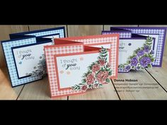 This Double Z-Fold card uses items from the new 2019 Occasions Catalogue, including the Gingham Gala DSP, Rectangle Stitched Dies and the Climbing Roses (wit. Tri Fold Cards, Fancy Fold Cards, Folded Cards, Joy Fold Card, Z Cards, Stampin Up Cards, Greeting Cards, Cardmaking And Papercraft, Shaped Cards