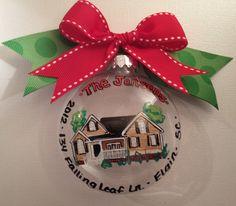 Home Replica Christmas Ornament - Housewarming Christmas Gift - Christmas Ornametn. $25.00, via Etsy.