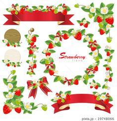Strawberry, Tableware, Meals, Drawings, Dinnerware, Tablewares, Strawberry Fruit, Dishes, Place Settings