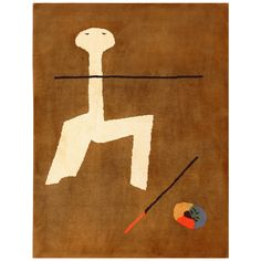 Vintage Joan Miró Rug 48174 | From a unique collection of antique and modern western european rugs at https://www.1stdibs.com/furniture/rugs-carpets/western-european-rugs/