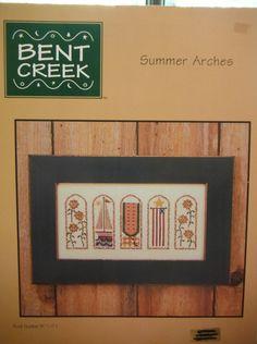 Bent Creek SUMMER ARCHES Pattern Book by CraftyCrossStitches, $6.00