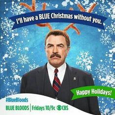 Frank Reagan played by Tom Selleck in Blue Bloods Tom Selleck Blue Bloods, Donnie Wahlberg, University Of Southern California, Blue Christmas, Merry Christmas, Family Values, 6 Years, Favorite Tv Shows, Holiday Cards