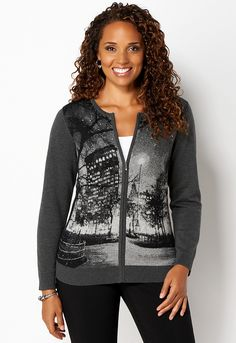 Scenic Jacquard Cardigan - All StylesChristopher & Banks