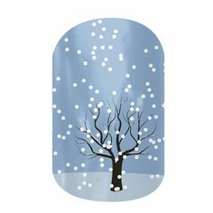 Wonderland nail wraps by Jamberry Nails. These wraps also include a snowy snowman scene and an evergreen tree snowy scene.