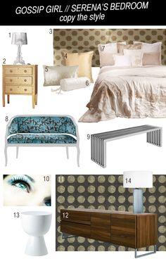 Gossip Girl Serena's Bedroom copy the style