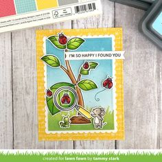 Happy Spring Day, Lawn Fawn Blog, Cute Cards, Diy Cards, Handmade Cards, Ink Pads, Rainbow Colors, Mini Albums, Crafts To Make