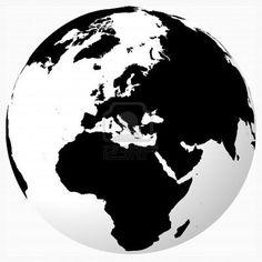 Color Negro y Blanco - Black & White!!! Globe