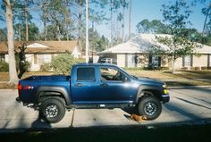 2006 Chevy Colorado Z71.  2 inch shackles, 2 inch TB crank, 3 inch body lift, and 33/10.50/15 BFG M/T's.