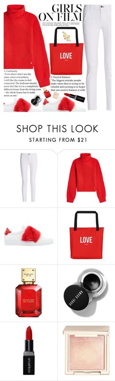 """""""Untitled #2461"""" by anarita11 ❤ liked on Polyvore featuring rag & bone, Versace, Givenchy, Michael Kors, Smashbox and Jouer"""