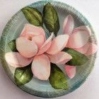 Set of Magnolia Memory plates and napkins