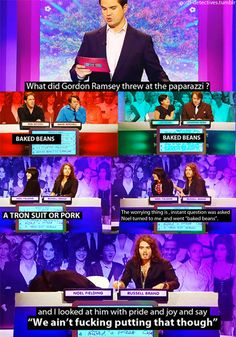 Love Russel Brand  Noel Fielding together ~ Big Fat Quiz of the Year