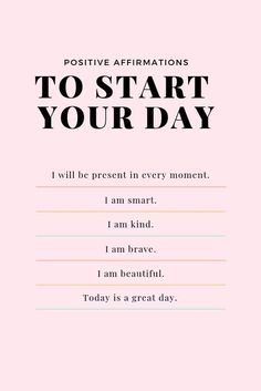 Positive Affirmations Quotes, Self Love Affirmations, Morning Affirmations, Law Of Attraction Affirmations, Affirmation Quotes, Christian Affirmations, Positive Mantras, Gratitude Quotes, Quotes About Kindness