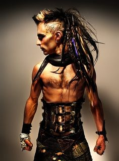post-apocalyptic, punk, survivor, dystopia, hairstyle, post apoc, cyberpunk, corset, punk, post-apocalyptic punk,industrial,synthetic dreads by FuturisticNews.com