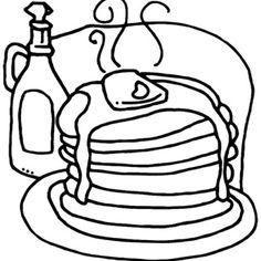 Pancake: Pancakes Coloring Page. Stack Of Pancakes Coloring Page.