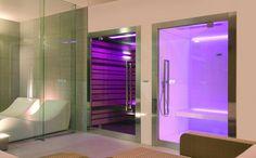 Steam room and Sauna, SweetSpa 50 by Italian brand Starpool _ Steam Shower Cabin, Sauna Steam Room, Sauna Shower, Shower Tub, Saunas, Spa Hammam, Sauna Design, Outdoor Sauna, E Room