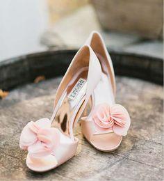 zapatos para novia en rosa palo