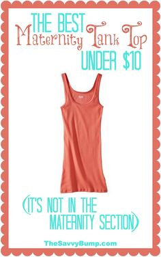 0f640594252e1 The best maternity tank top is under  10 but you will not find it in the