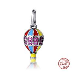 Fits Pandora charms Bracelets Original 925 sterling silver Beads Flamingo Bird Teapot Luminous Butterfly Pendant Jewelry making