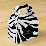 PixDezines zebra/DIY color Favor Box