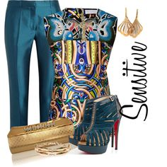 Designer Clothes, Shoes & Bags for Women Mode Outfits, Fashion Outfits, Trendy Fashion, Fashion Beauty, Dinner Party Outfits, Trouser Outfits, Complete Outfits, Classy Outfits, Fashion Addict