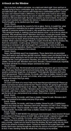 .scariest one i've ever read so far o.o