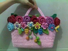 crochet rose flowers