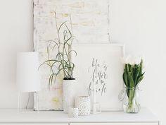 Auf der Mammilade|n-Seite des Lebens | Personal Lifestyle Blog | Lieblinge und Inspirationen der Woche #16 | Fruehlingsdeko | weiße Tulpen | Fraumeier minisophie Tischleuchte