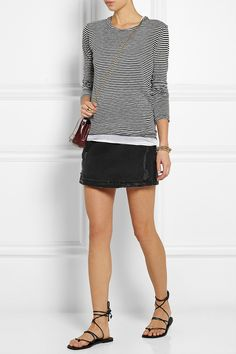 Étoile Isabel Marant | Aaron striped cotton and linen-blend jersey top | NET-A-PORTER.COM