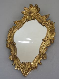 Vintage French Louis Style MIRROR  ~ Gold Gilded Framed Mirror ~ Wall Hanging Decor ~ Shabby Chic Style ~ Petit Miroir ~ Antique Gilt Mirror on Etsy, $101.69
