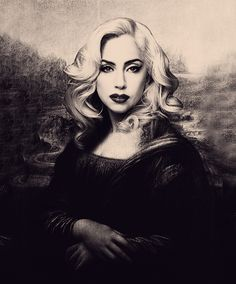 Unknown- Lady Gaga as Mona Lisa<<< Truly the most beatyfull woman in all existence Lady Gaga, The Fame Monster, Mona Lisa Parody, Little Monsters, Art Music, Body Art Tattoos, Madonna, New Art, My Idol