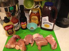 Crock-pot BBQ Chicken Thighs |#HEALTHY CROCK POT IDEAS FOR CHICHEN THIGHS