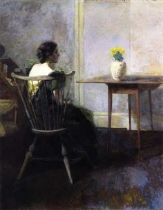 Yellow Tulips, Thomas Wilmer Dewing