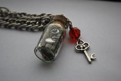 Steampunk Inspired Stopper Bottle Necklace  by ThePaintedEpoxy, $20.00