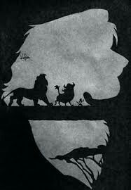 A really pretty canvas art  of the lion king