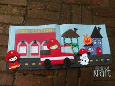 Hey, I found this really awesome Etsy listing at https://www.etsy.com/listing/230263929/fireman-quiet-book-to-the-rescue-fireman