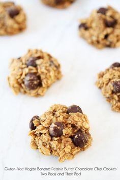 Gluten-Free Vegan Banana Peanut Butter Chocolate Chip Cookies!