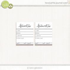 Quality DigiScrap Freebies: Favo(u)rites journal card freebie from Plant Your Story